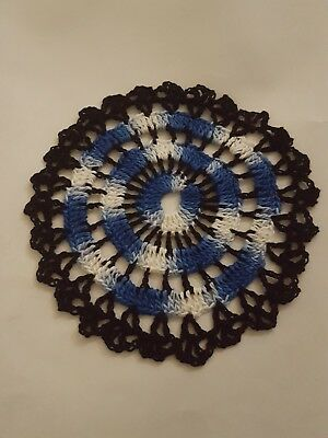 Shady Blue in Black Bumblebee doily Approximately 5 Inches.