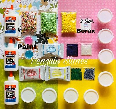 DIY SLIME KIT SLIME SUPPLIES Make your own Fluffy, Butter, Glitter Slimes!!!