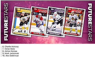 2018 FUTURE STARS WAVE 2 COMPLETE SET OF 5 CARDS Topps NHL Skate Digital Card