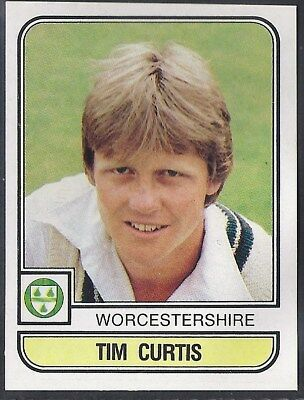 Panini-Cricket 83-#229- Worcestershire - Tim Curtis