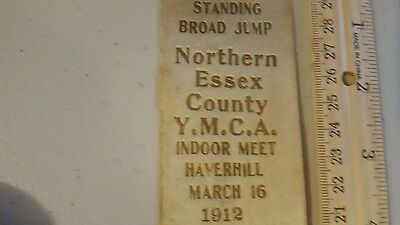 1912 Ribbon Essex County Ymca Indoor Meet Haverhill Massachusetts Look!