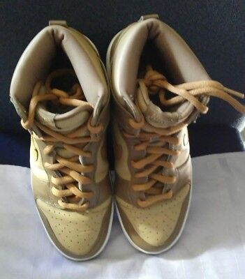 2003 Nike Dunk High EUROPE EURO HAY MAPLE TAUPE WHITE BEIGE BROWN 304717-222 9.5