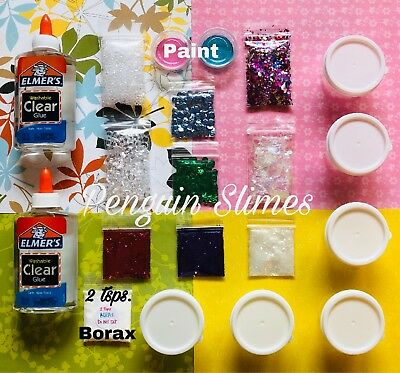 DIY SLIME KIT SLIME SUPPLIES Make your own Clear Slimes with GLITTER!