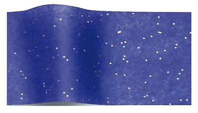 ROYAL BLUE GEMSTONE WRAPPING TISSUE PAPER SHEETS ~ SPARKLY GLITTER GEM 50x75cm