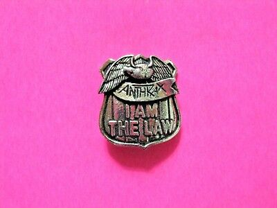 Anthrax Small Official Vintage Pewter Pin Uk Import Not Shirt Cd Patch Lp Poster