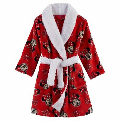 Disney 2T 4T Holiday Minnie Mouse Red Bathrobe Robe Toddler Girl Clothes