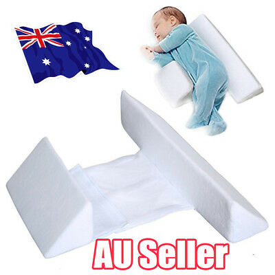 Memory Foam Baby Infant Sleep Pillow Support Wedge Adjustable White Cotton EA