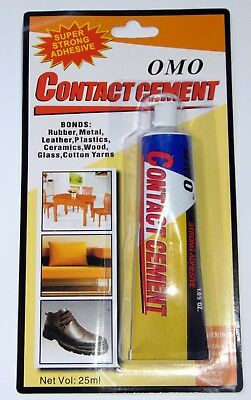 CONTACT CEMENT TUBE - Super Strong Adhesive for Rubber Metal Glass Plastic Wood