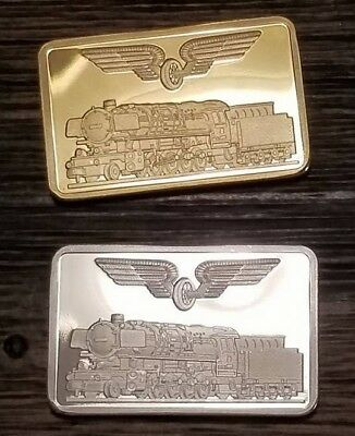 x 2 WW2 WWII German Germany Deutsche Reichsbahn Railways Railroad Train Bar