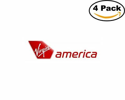 Airlines Virgin America Airlines Logo 4 Stickers 4X4 Inches Sticker