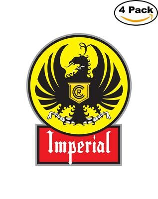 Imperial Beer Logo Alcohol 4 Vinyl Stickers 4X4 Inches