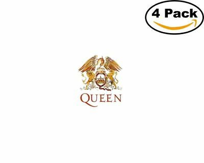 Band queen logo 4 stickers 4x4 inches sticker