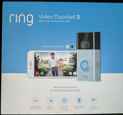 Brand New Ring Video Doorbell 2 Newest Version 1080 HD Wifi Factory Sealed