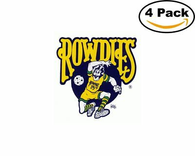 Soccer Tampa Bay Rowdies Logo 4 Stickers 4X4 Inches Sticker