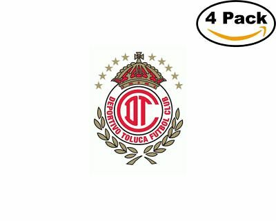 Soccer toluca logo 4 stickers 4x4 inches sticker