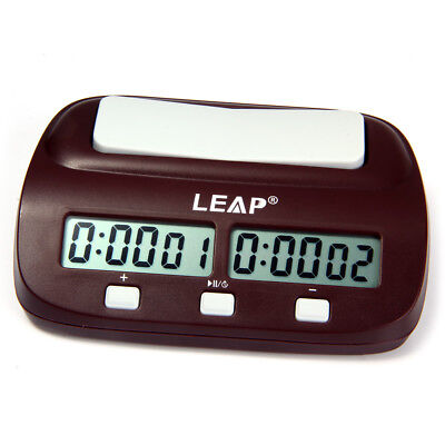 Digital Chess Timer Electronic Countdown Board Game Clocks New Portable Handheld