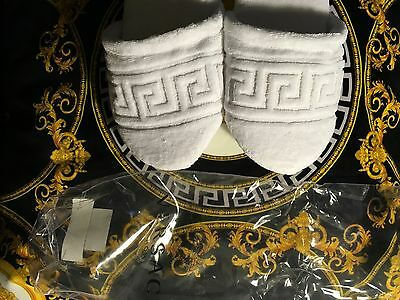 Versace Slippers Bath Home Greek Key New In Bag Authentic Valentines Gift Sale