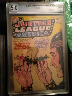 Justice League Of America #10 March 1962 Pgx  5.0 Vg/fine  Buy It Now $94.00!!