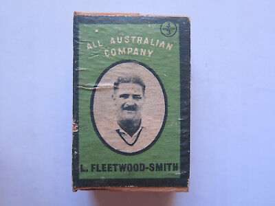 L FLEETWOOD-SMITH AUST DUNCANS 60 EMPTY MATCH BOX USED CONDITn AUSTRALIAN c1938