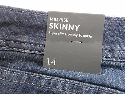 Lane Bryant Women's Mid Rise Skinny Blue Jeans 14 NWT NEW
