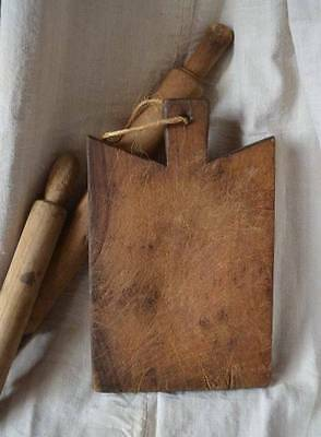 Antique French solid wooden chopping board