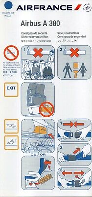 # Safety Card von Air France / Airfrance - Airbus A 380 - 06/2009 !!!!!!!!!!!!!!