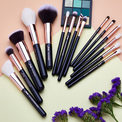UK Jessup Makeup Brushes Set 15Pcs Powder Cheek Eyeshadow Brow Cosmetic Tool Kit