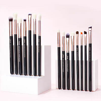 15pcs Precision makeup brushes Set Blending Eyeliner Brow Rose Gold Jessup UK