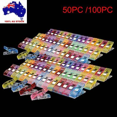 100Pc Plastic Pack Wonder Clips For Quilting Sewing Knitting Crochet Craft Tools