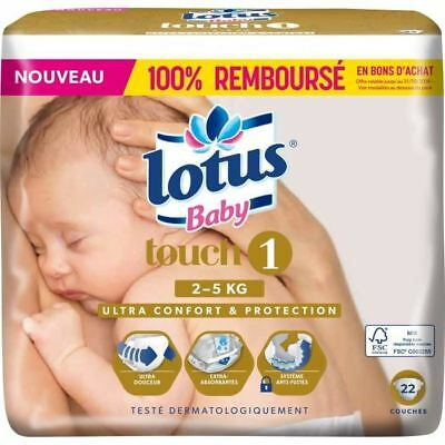 LOTUS BABY Touch 22 Couches Taille 1 De 2 a 5 kg