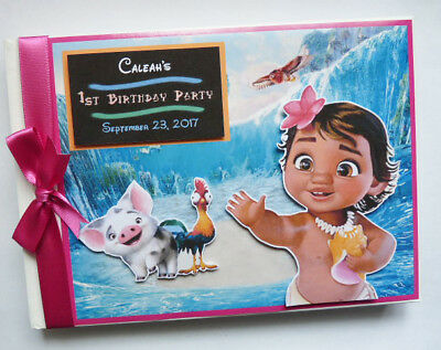 Personalised Disney Moana Birthday Guest Book - Any Design