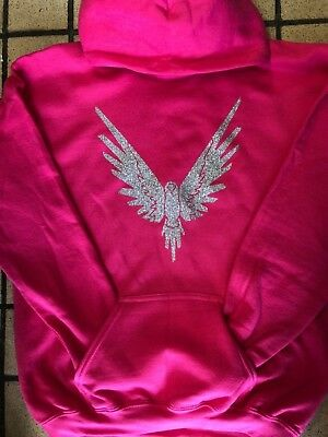 Logan Paul Maverick Hoodie Pink And Silver Sparkle Maverick Logang Jake Paul