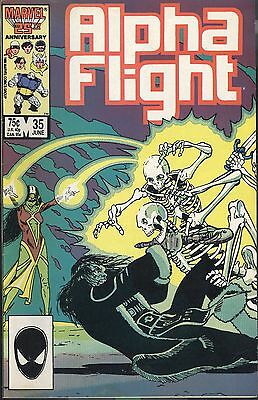 Marvel Alpha Flight 35 June 86 Child Is Father To The Man Mantlo