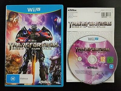 Transformers: Rise of the Dark Spark - Very Good Condition - Wii U - PAL - RARE