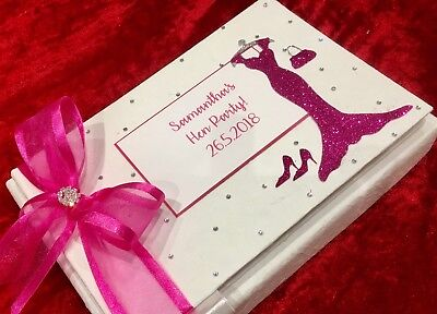 Hen Night Guest Book Birthday Gift Personalised 18th 21st 40th 50th 60th Party