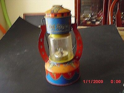 Roy Rogers C Battery Powered Lantern.  Made in USA by Ohio Art Co.  Bryan, Ohio