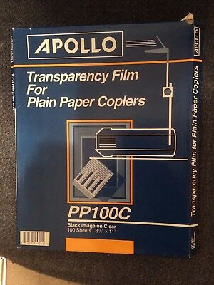 Transparency Film for Plain Paper Copiers - 64 sheets
