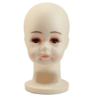 SS Small Children Mannequins White Manikin Head For Wig Hats Mould Show Stand Mo