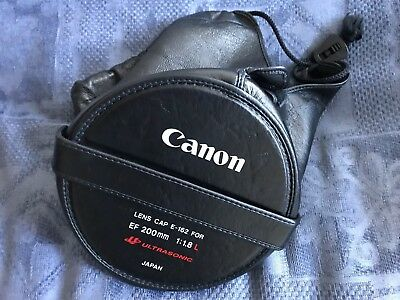 Canon Leather End Cap Cover for 200mm EF f/1.8 L lens (*E-162*)  = Rare ORIGINAL