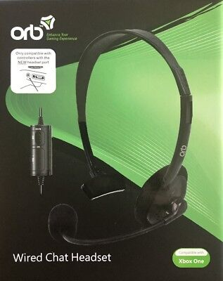 ORB Xbox One Wired Chat Headset (Black)