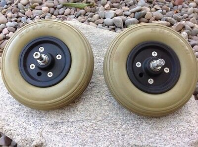 Pair 200x50 Wheels /Tires Power Wheelchair - Free Ship!