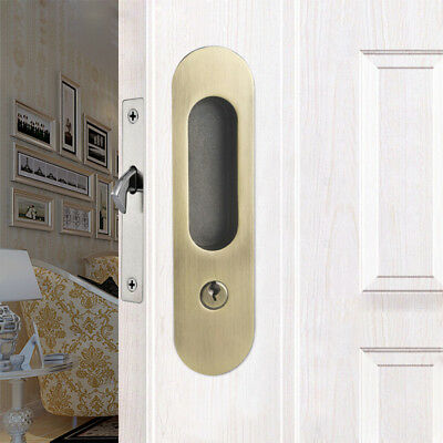 MagiDeal Invisible Door Lock Handle + Keys Sliding Barn Wooden Gate Door #2