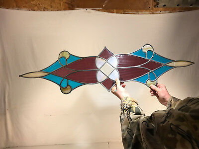 Antique Leaded Stained Glass Beveled Glass Lead Frame Filament Patio Tiffany Era