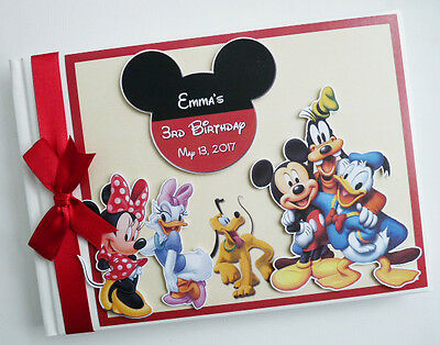 Personalised Disney Clubhouse Boy Girls Birthday Guest Book - Any Design