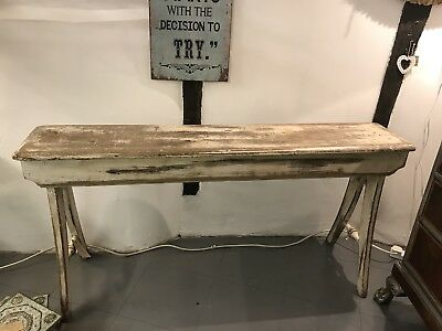 Vintage Bench Console Table Hallway Table Swedish Gustavian Painted Shabby