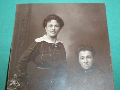 antique/vintage photograph of two women/1890/1900s/Germany