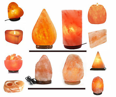 Himalayan Salt Lamp Natural Rock Pink Salt Lamps With Plug & Bulb Different Size