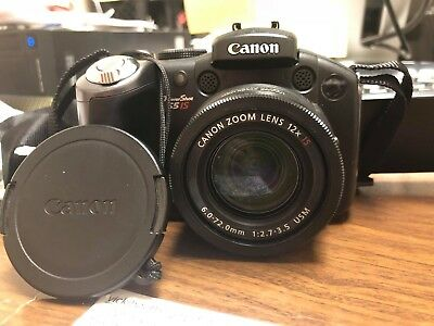 Canon PowerShot S5 IS 8.0MP Digital Camera - Black *WORKS GREAT* pps-1656-1