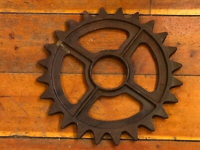 Vintage Cast Iron Industrial Gear/Sprocket With Large Teeth - Steampunk Decor!!