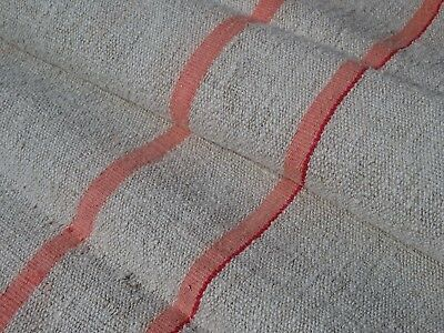 Antique European Feed Sack GRAIN SACK Red Stripe  # 9991